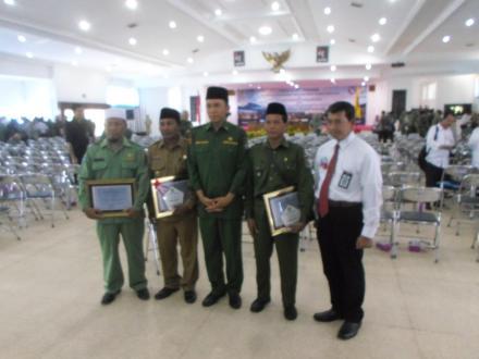 Desa Gelangsar mendapatkan Penghargaan sebagai Desa Pelopor Good Governance