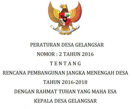 RPJMDes Tahun 2016-2018