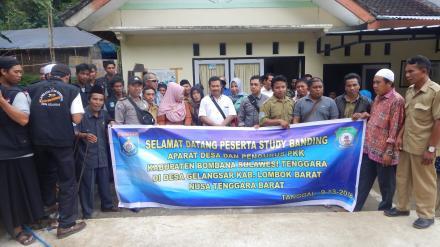 Kunjungan Kerja Pemerintah Desa se-Kecamatan Lantari Jaya Sulawesi Tenggara ke Desa Gelangsar