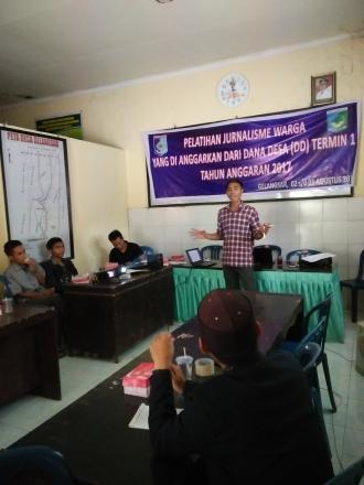 Pelatihan Jurnalisme Warga dari Dana Desa (DD) Termin I tahun 2017