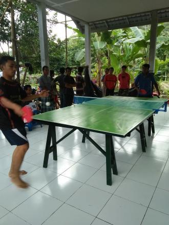 Pertandingan Tenis Meja Dari Alokasi Dana Desa (ADD) Termin I Tahun 2017