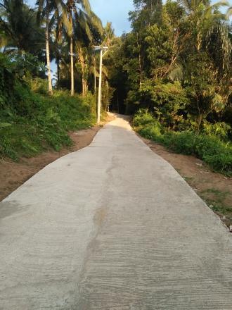 Pembangunan Jalan Beton Dusun Apit Aiq Menuju Dusun Geripak Tahap Pertama Seratus Persen