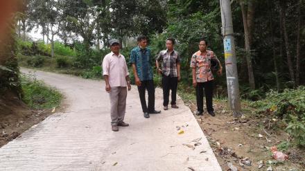 Kunjungan KASI PMD Dalam Rangka Pengecakan Hasil Kerja TPK Desa Gelangsar