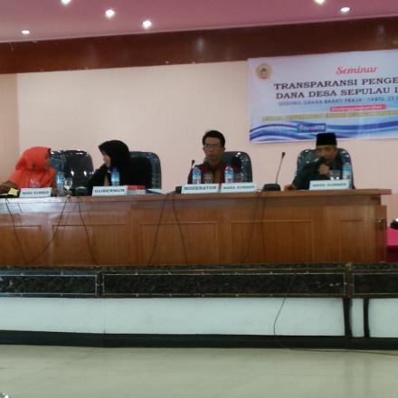 Seminar Transparansi Pengelolaan Dana Desa