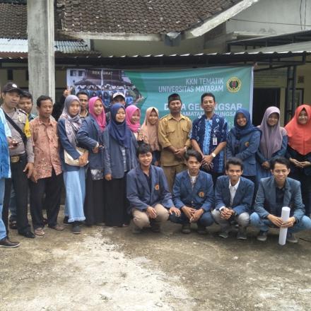 Penerimaan KKN Tematik Universitas Mataram Tahun 2018 di Desa Gelangsar