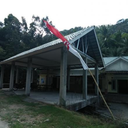 Pembangunan Aula Kantor Desa Gelangsar yang di Anggarkan Lewat Alokasi Dana Desa (ADD) Tahun 2019